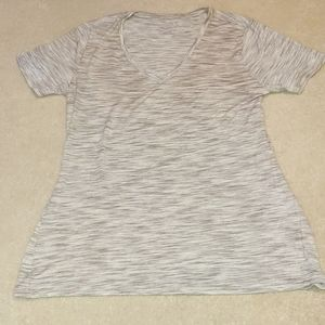 Light grey v-neck